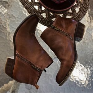 {lucky brand} brown basel bootie